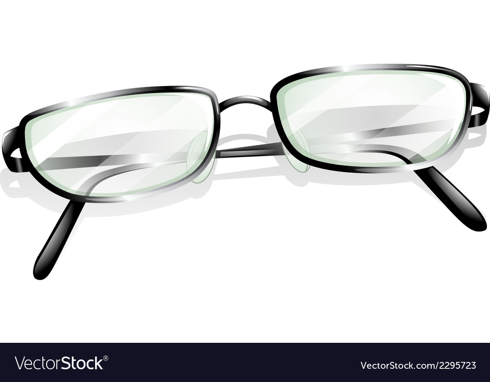 A topview of an eyeglass vector | Price: 1 Credit (USD $1)