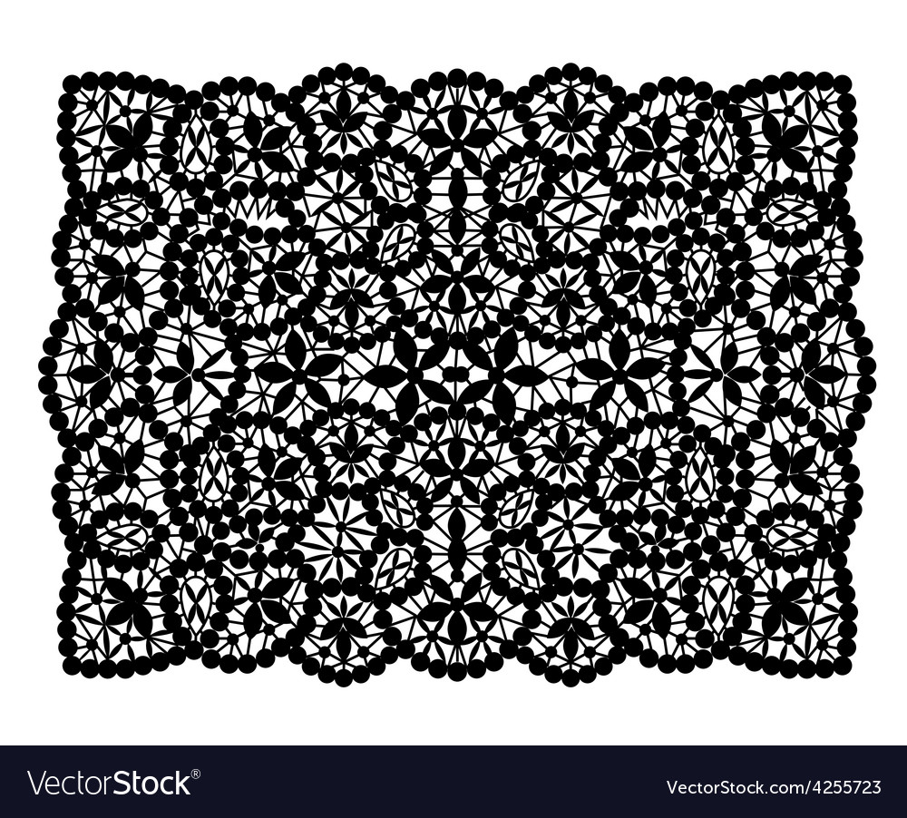 Black lace doily vector | Price: 1 Credit (USD $1)