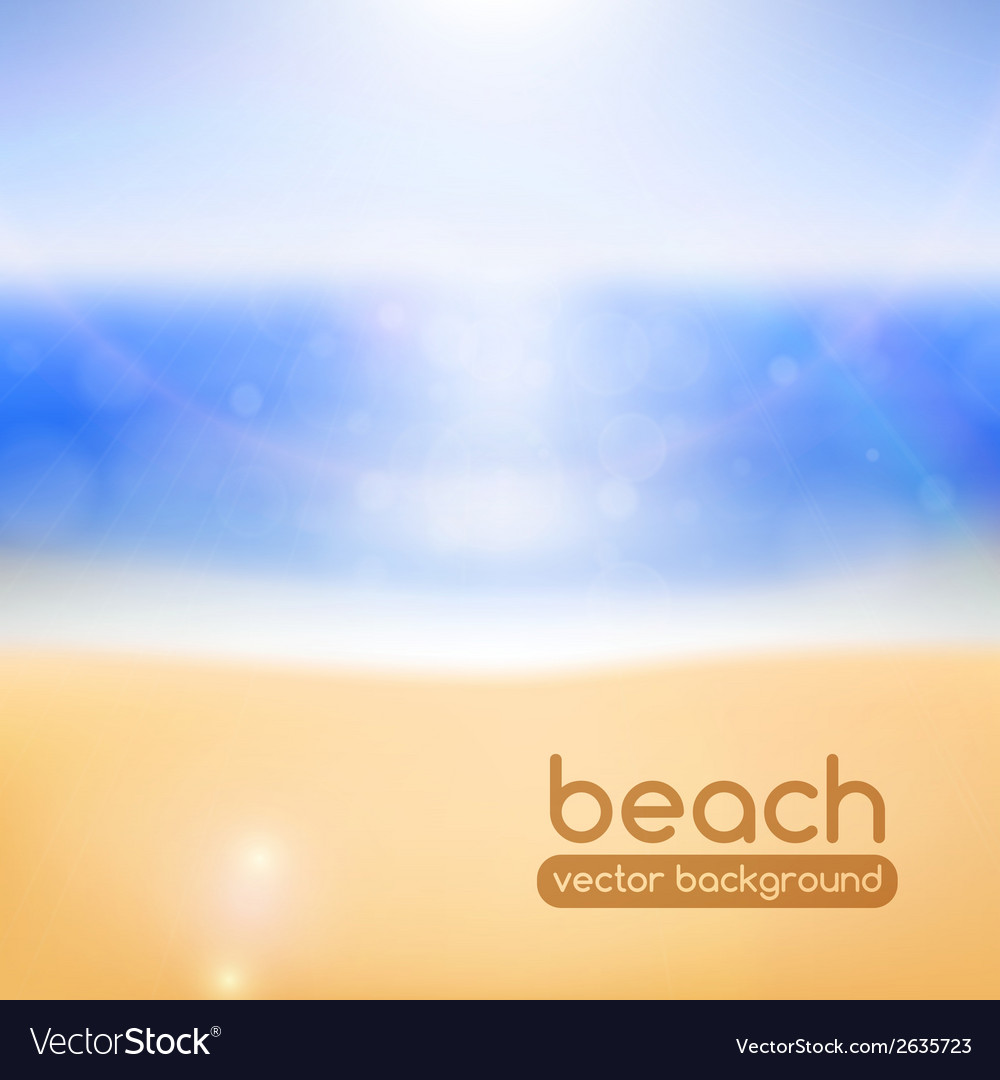 Blurred beach background vector | Price: 1 Credit (USD $1)