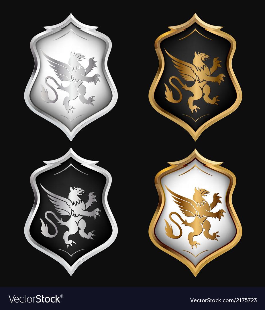Heraldry shields set vector | Price: 1 Credit (USD $1)