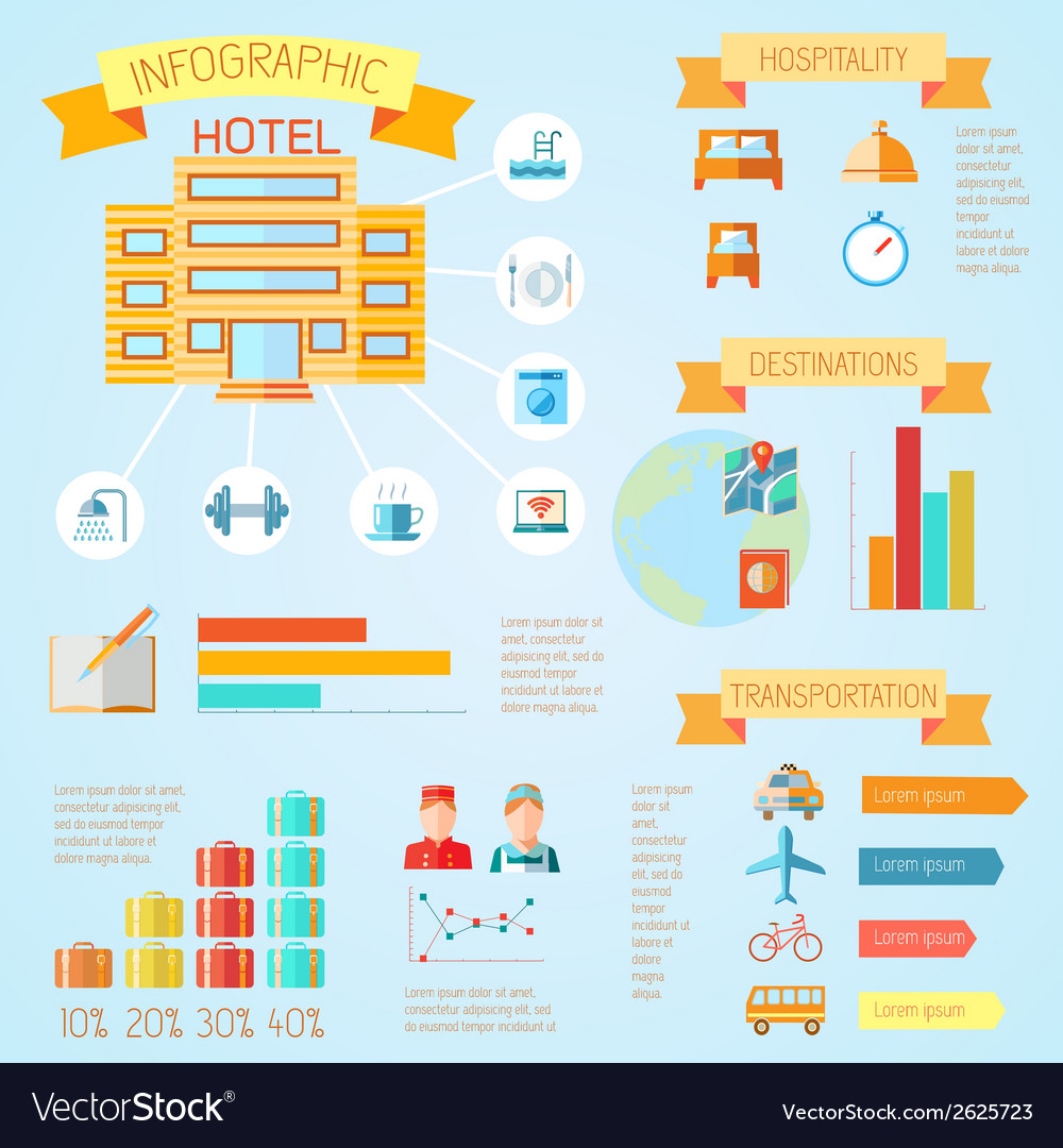 Hotel infographics vector | Price: 1 Credit (USD $1)