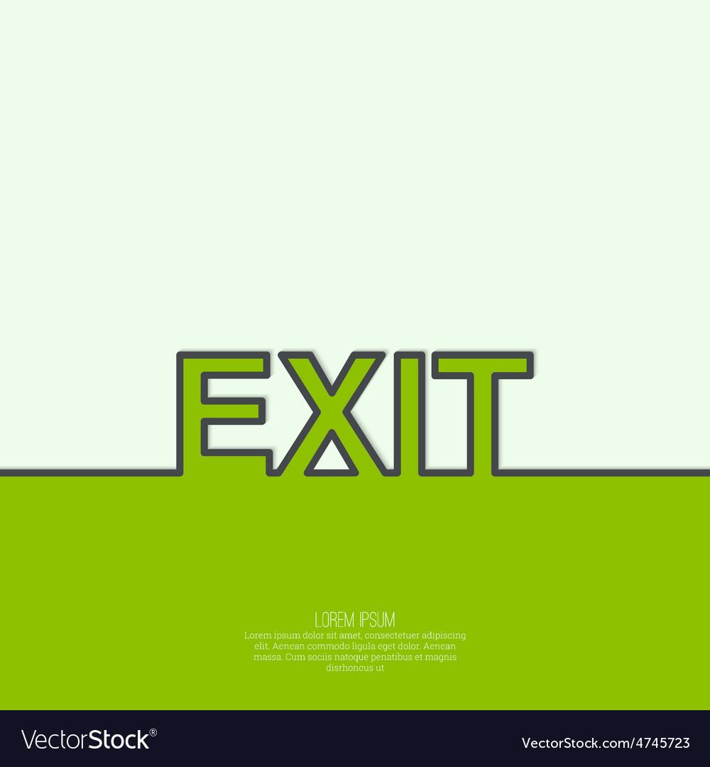Inscription exit vector | Price: 1 Credit (USD $1)
