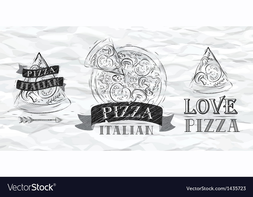 Pizza logo paper vector | Price: 1 Credit (USD $1)