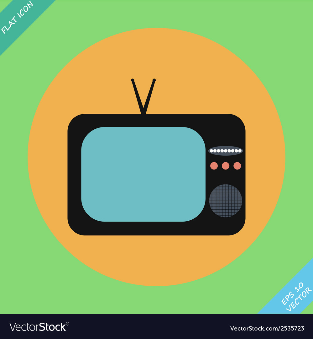 Retro tv icons- vector | Price: 1 Credit (USD $1)