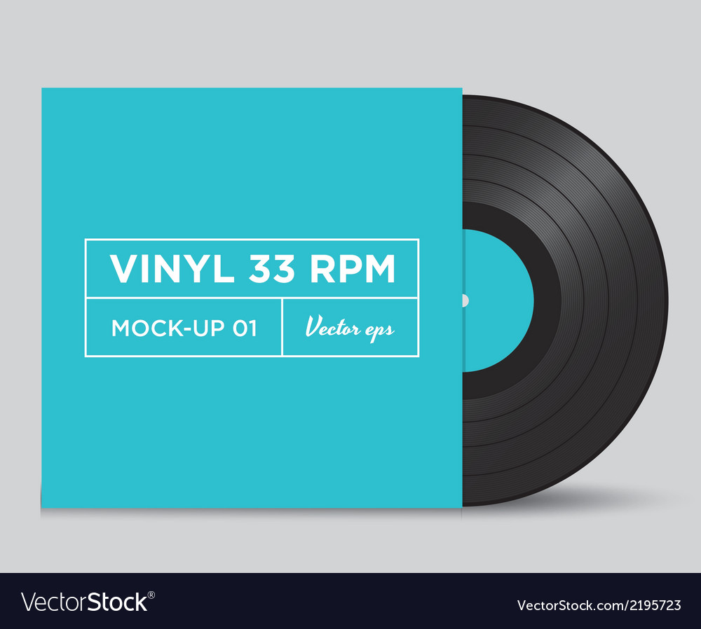 Vinyl 33 rpm mockup 01 vector | Price: 1 Credit (USD $1)