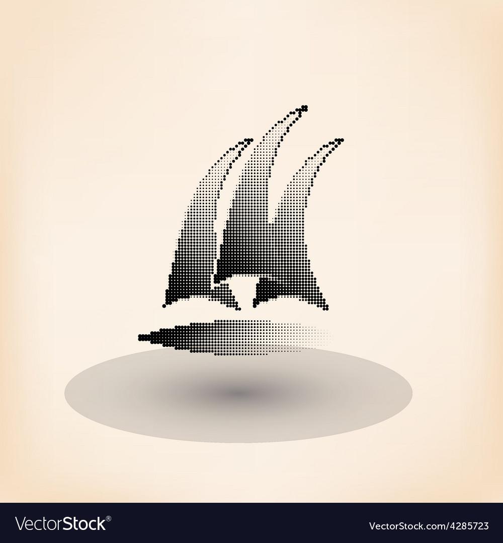 Yacht club logo halftone stylized vector | Price: 1 Credit (USD $1)