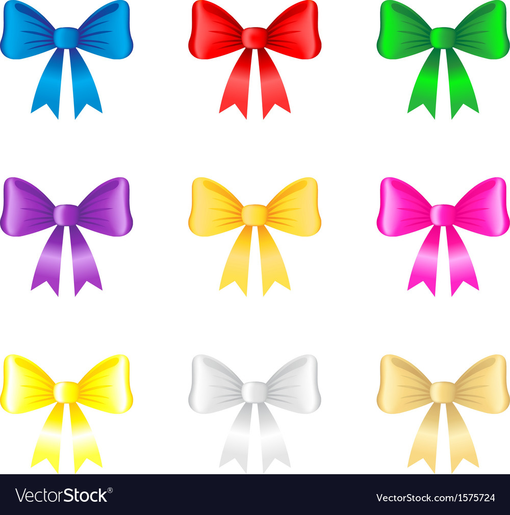 Color bow vector | Price: 1 Credit (USD $1)