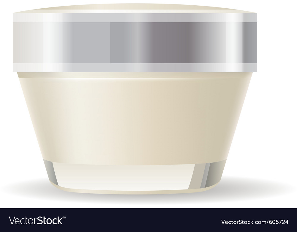 Cream container isolated vector | Price: 1 Credit (USD $1)