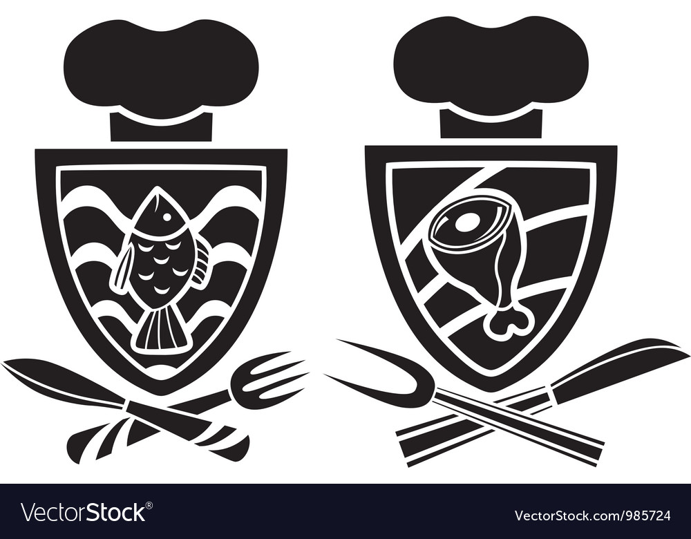 Culinary emblem two variants vector | Price: 1 Credit (USD $1)