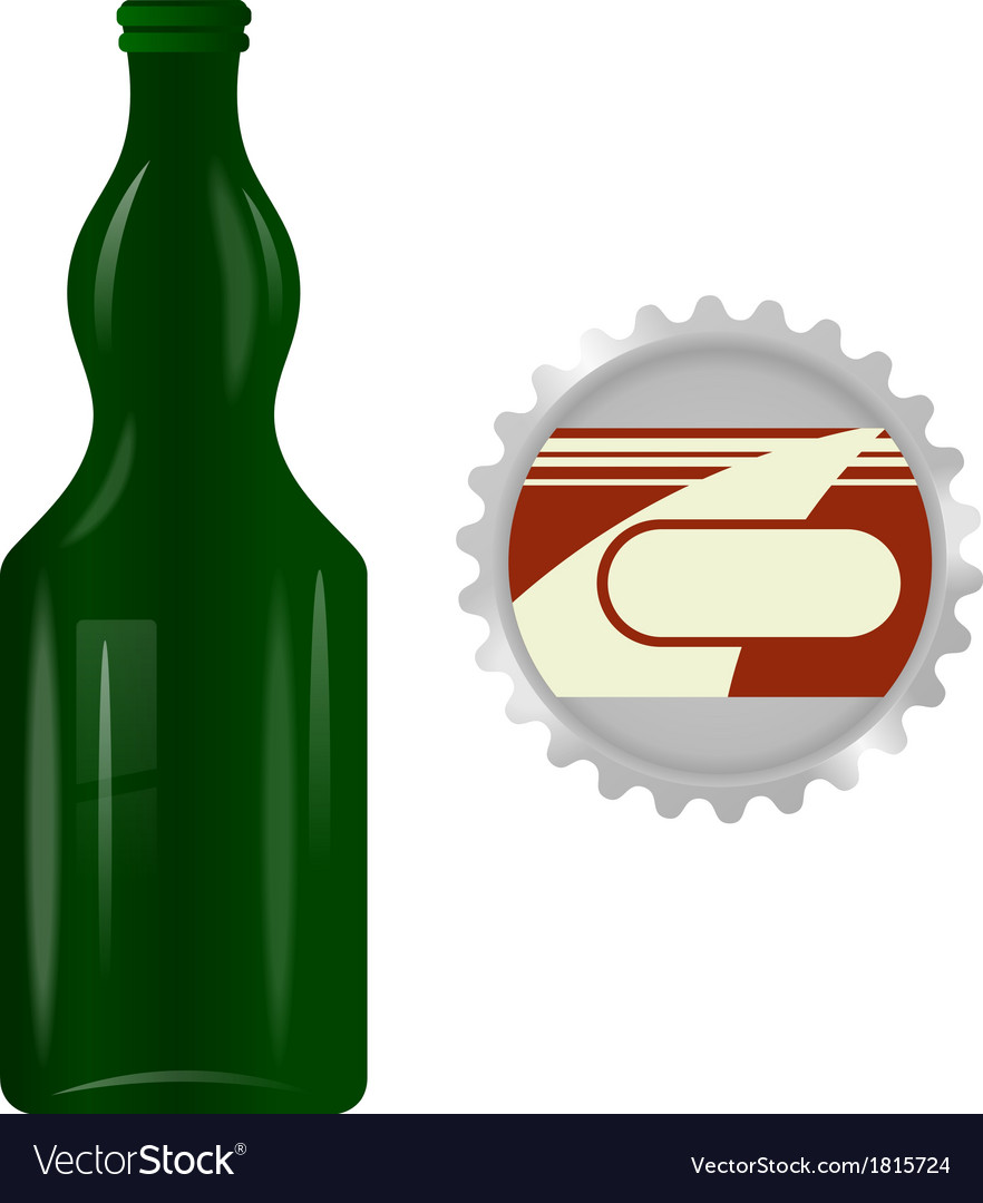 Glass bottle with a metal cap vector | Price: 1 Credit (USD $1)