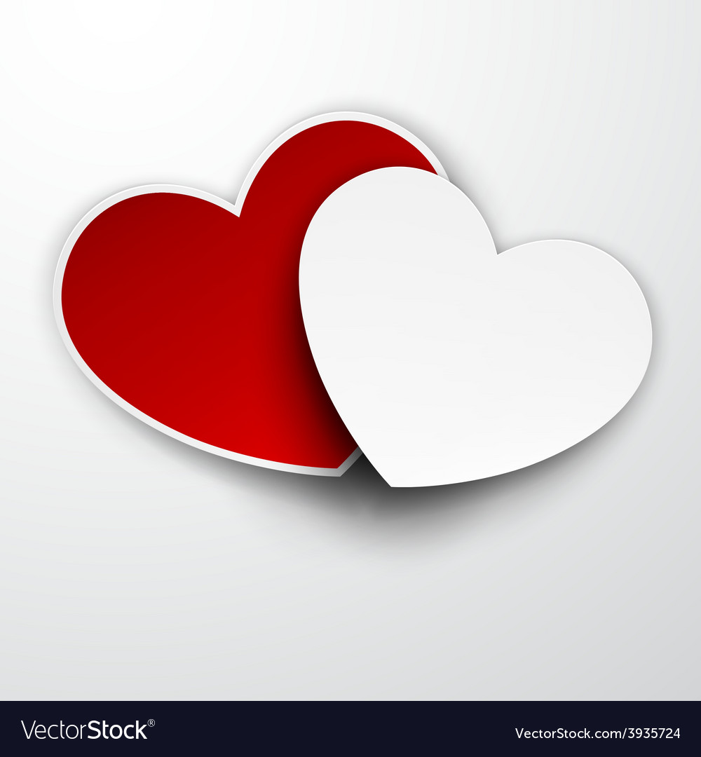 Paper red and white hearts vector | Price: 1 Credit (USD $1)