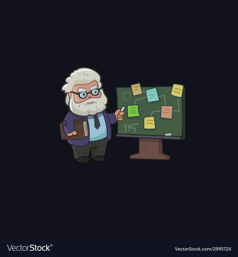 Professor character design vector | Price: 1 Credit (USD $1)