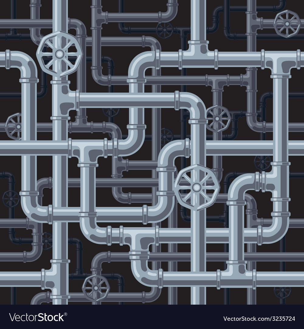 Seamless pipes background vector | Price: 1 Credit (USD $1)