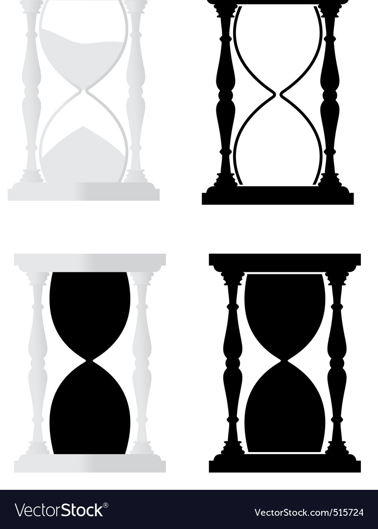 Set of hourglass vector | Price: 1 Credit (USD $1)
