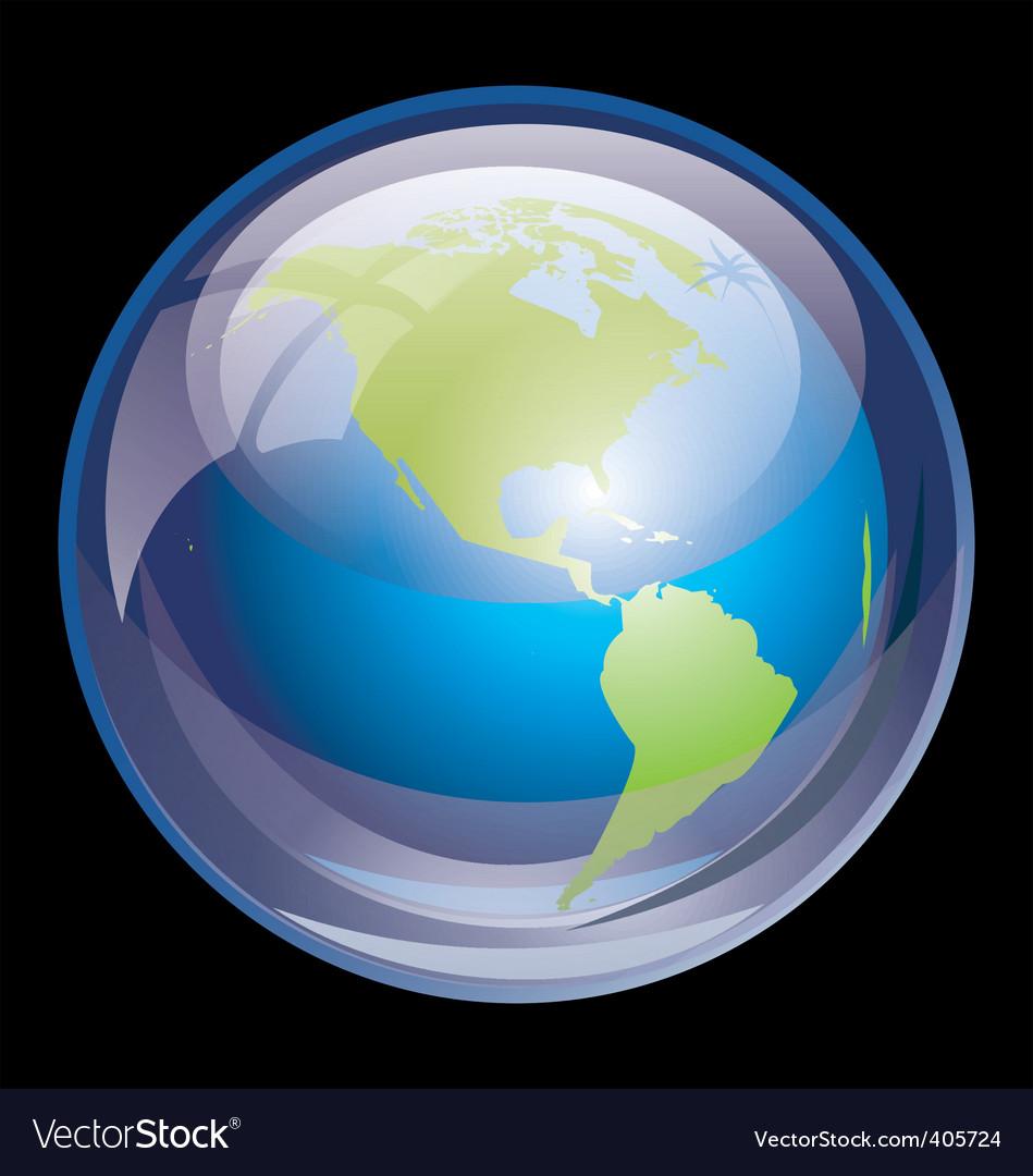 Ultra glossy globe vector | Price: 1 Credit (USD $1)