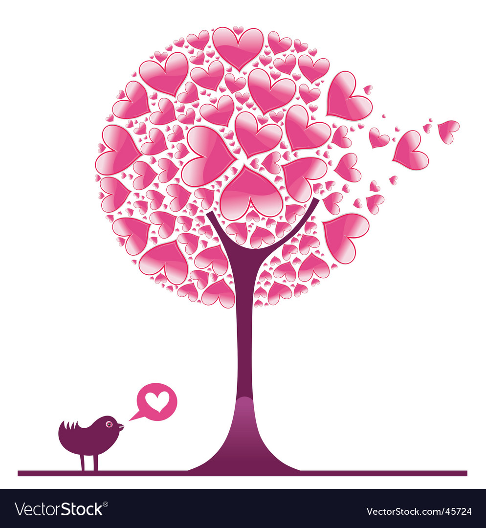 Valentine decorative tree vector | Price: 1 Credit (USD $1)