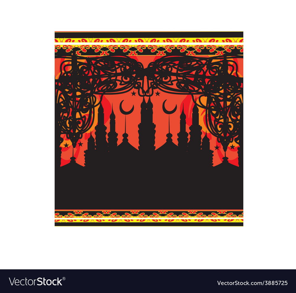 Abstract religious background - ramadan kareem vector | Price: 1 Credit (USD $1)