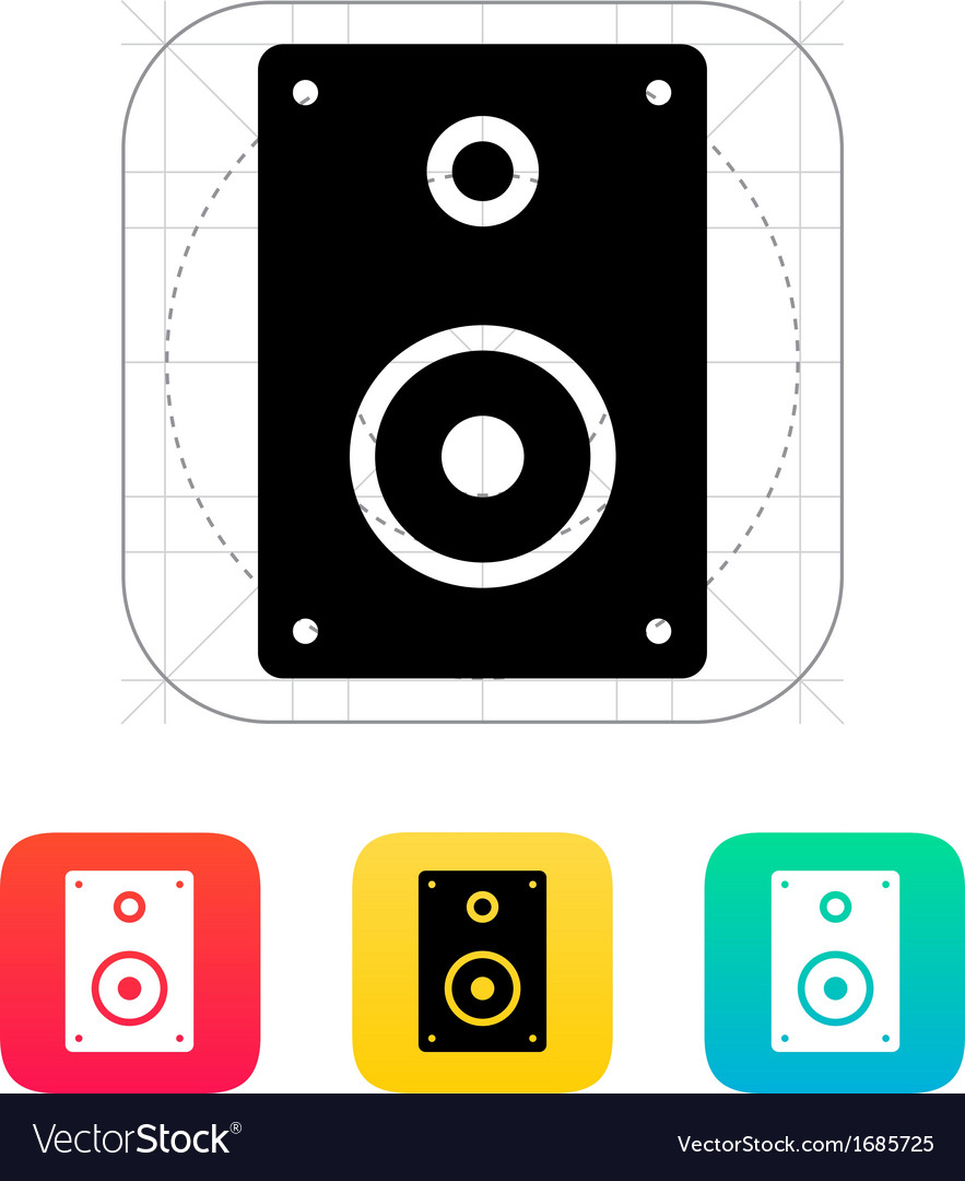Audio speakers icon vector | Price: 1 Credit (USD $1)