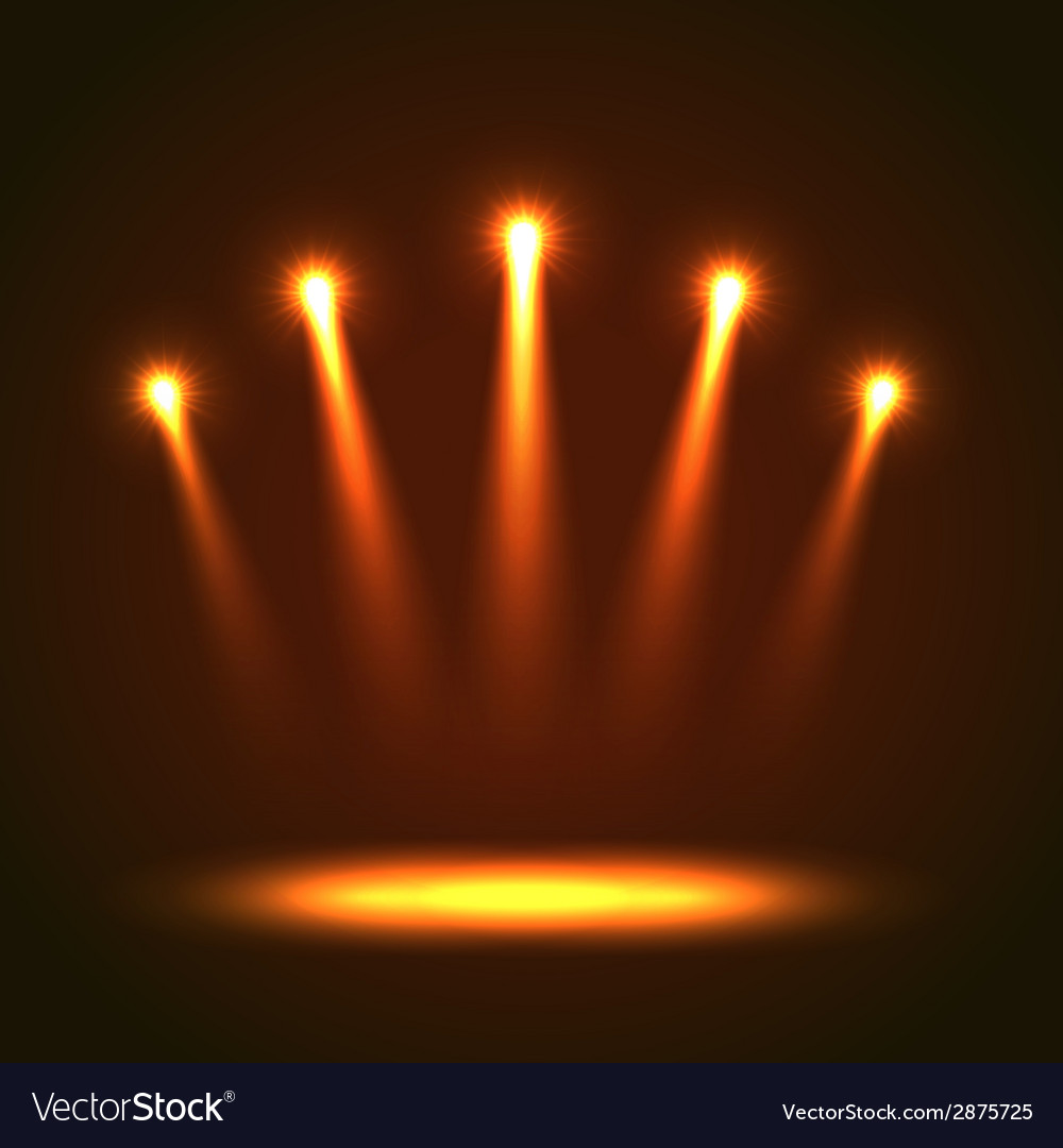 Background with five bright spotlights vector | Price: 1 Credit (USD $1)