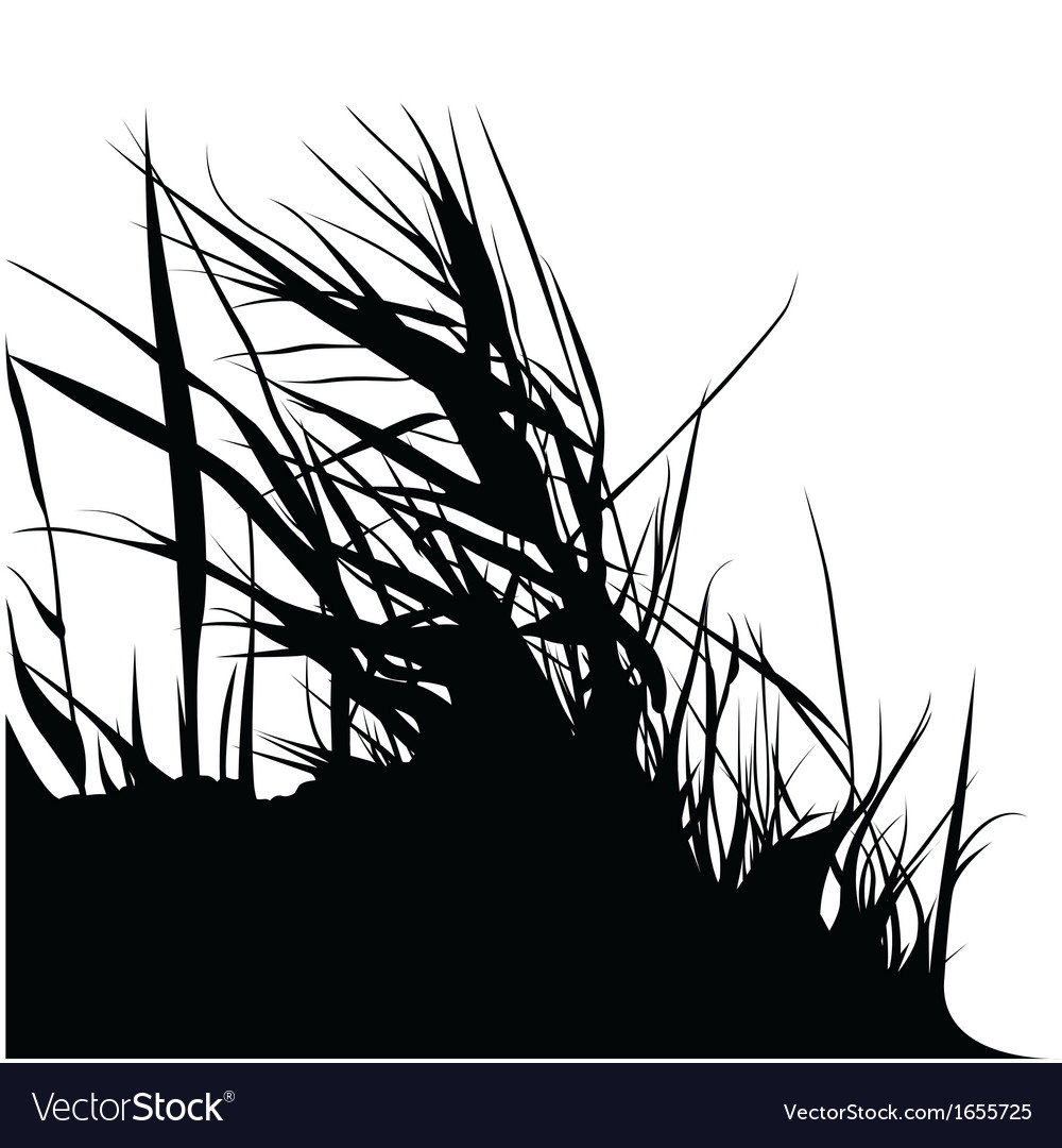 Bunch grass silhouette vector | Price: 1 Credit (USD $1)