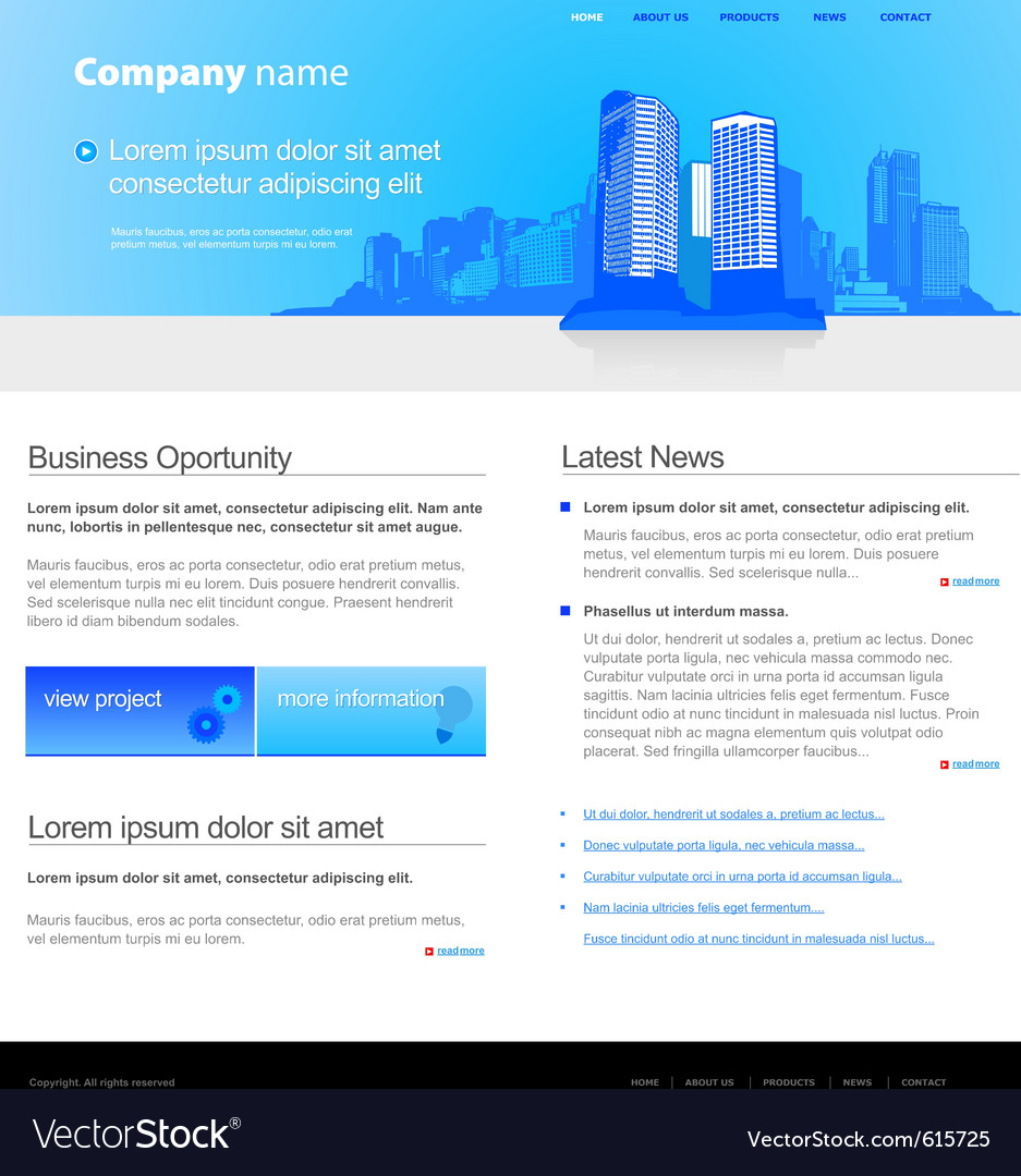 City website template vector | Price: 3 Credit (USD $3)