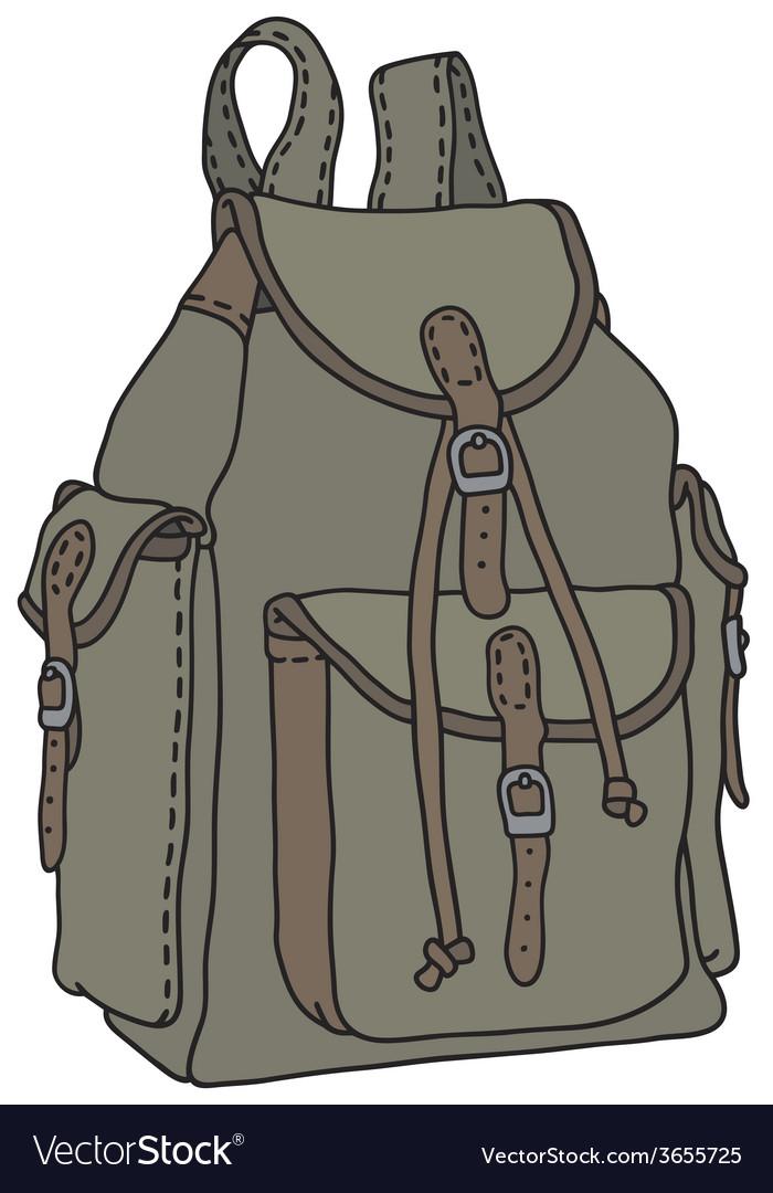 Classic rucksack vector | Price: 1 Credit (USD $1)