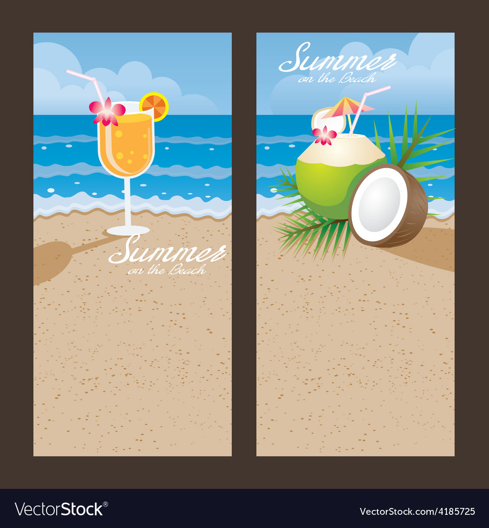 Coconut cocktail backdrop vector | Price: 3 Credit (USD $3)