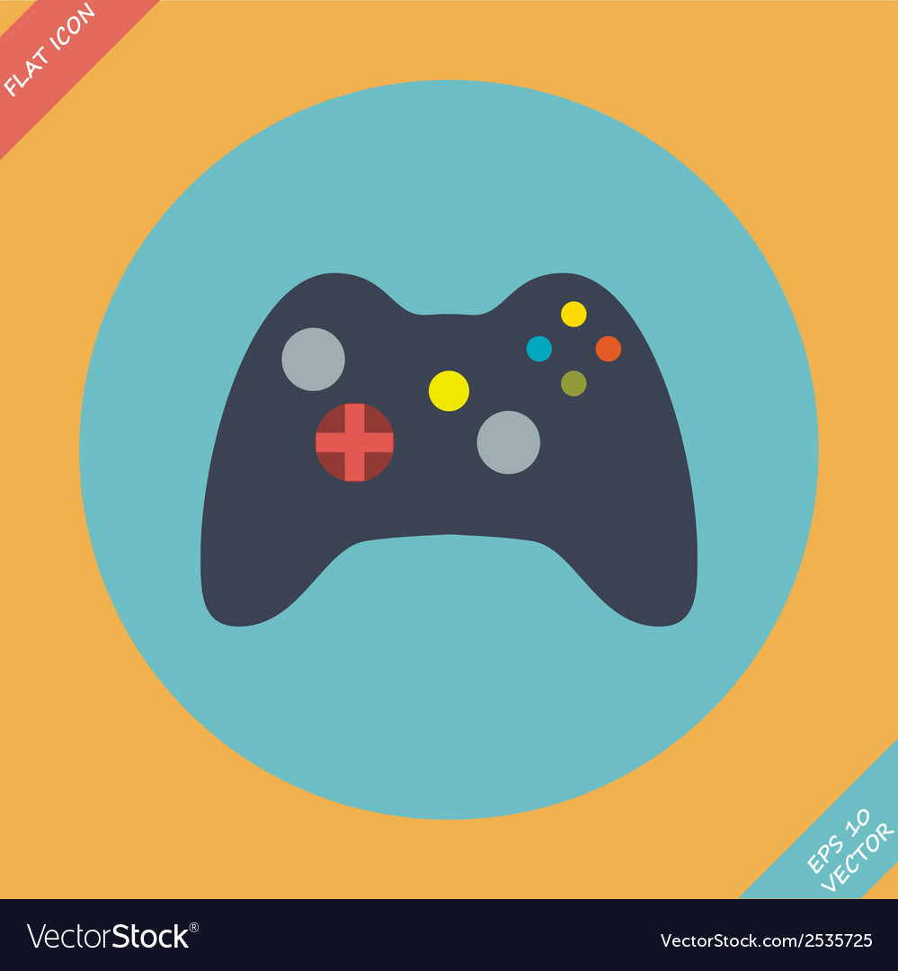 Computer video game controller joystick vector | Price: 1 Credit (USD $1)
