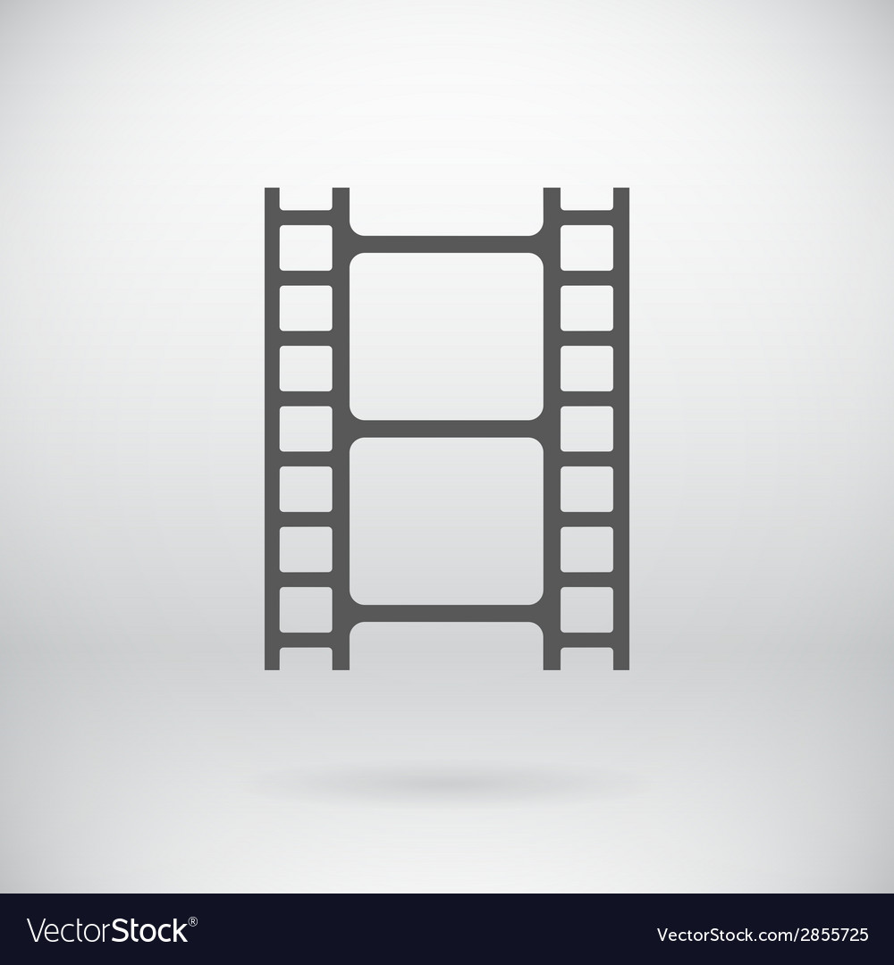 Flat movie film strip light icon symbol background vector | Price: 1 Credit (USD $1)