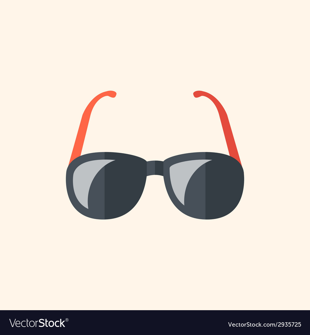 Glasses travel flat icon vector | Price: 1 Credit (USD $1)