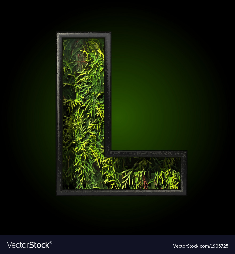 Grass cutted figure l vector | Price: 1 Credit (USD $1)