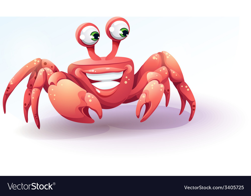 Merry crab on a background of sky vector | Price: 3 Credit (USD $3)