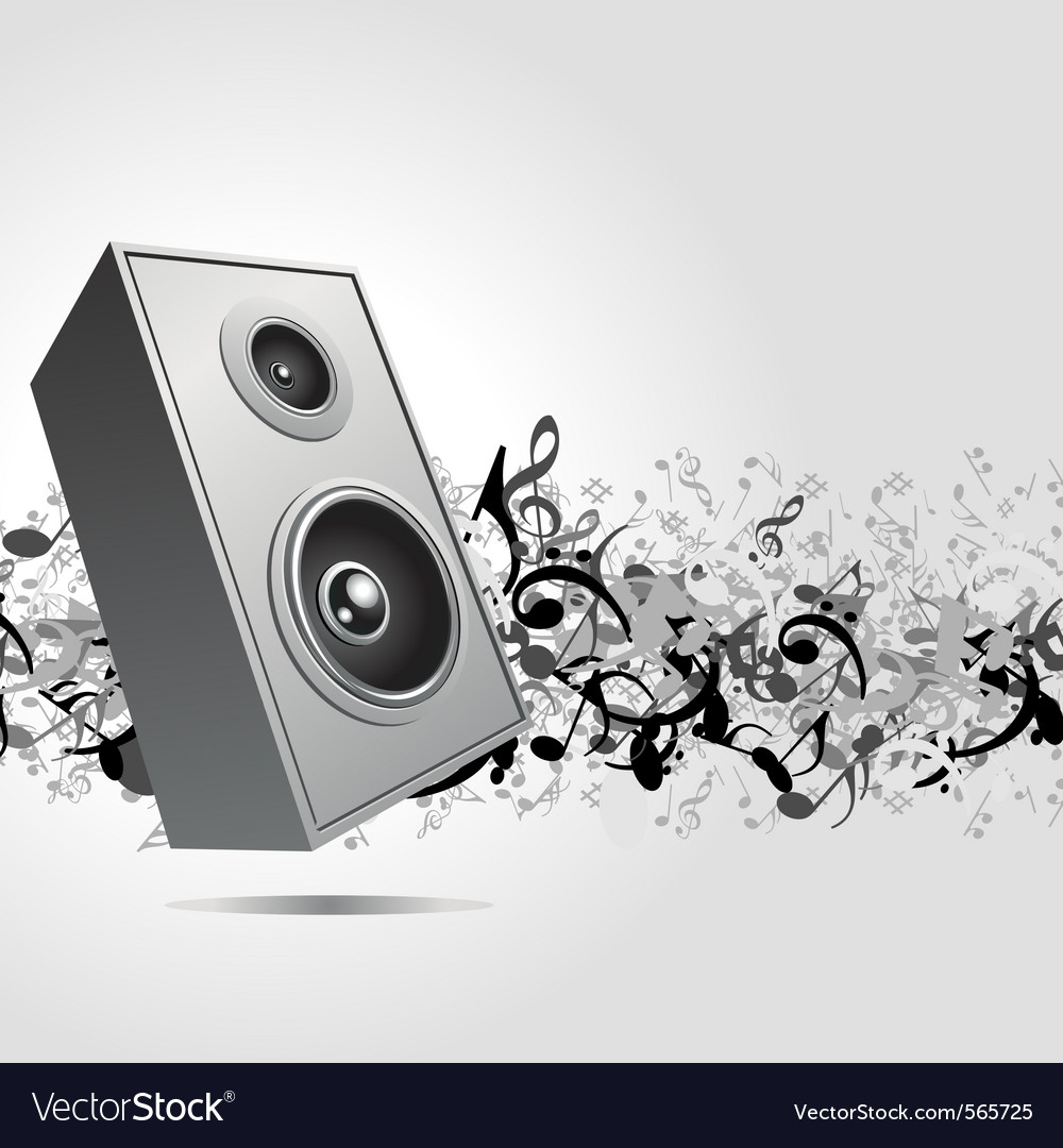 Speaker music background vector | Price: 1 Credit (USD $1)