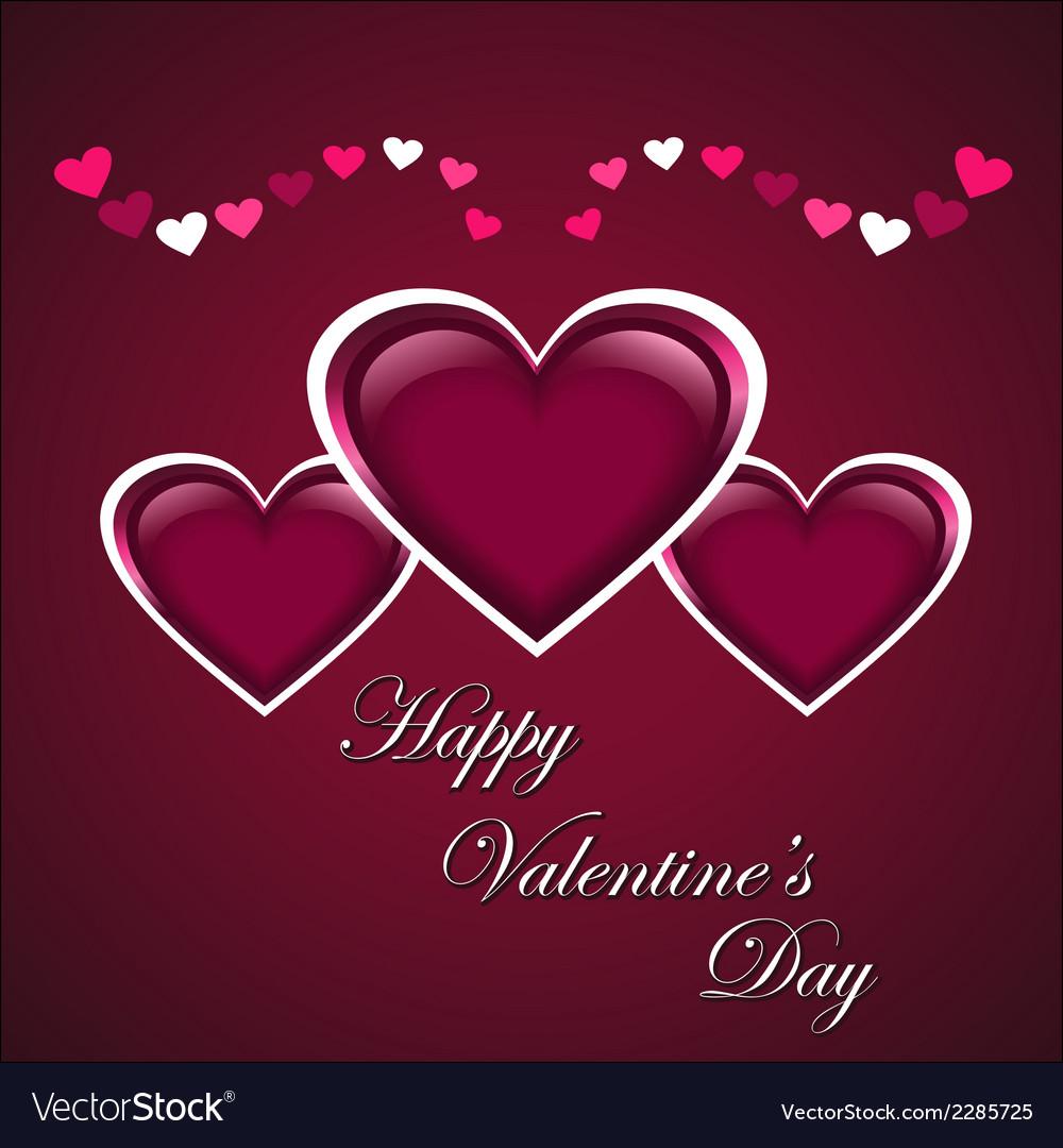 Valentine day banner vector | Price: 1 Credit (USD $1)