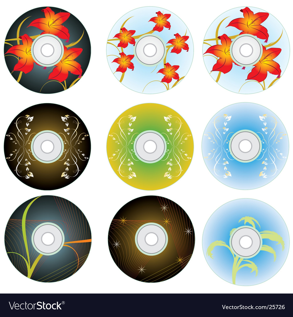 Cd and dvd disks vector | Price: 1 Credit (USD $1)