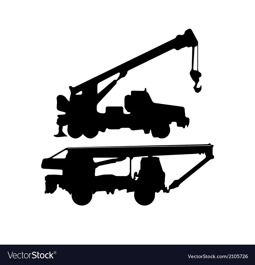 Cranes silhouette vector | Price: 1 Credit (USD $1)