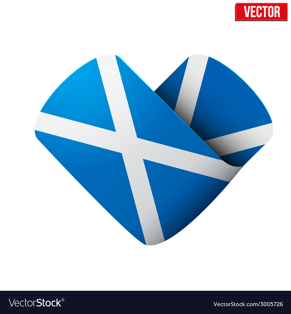 Flag icon in the form of heart i love scotland vector | Price: 1 Credit (USD $1)