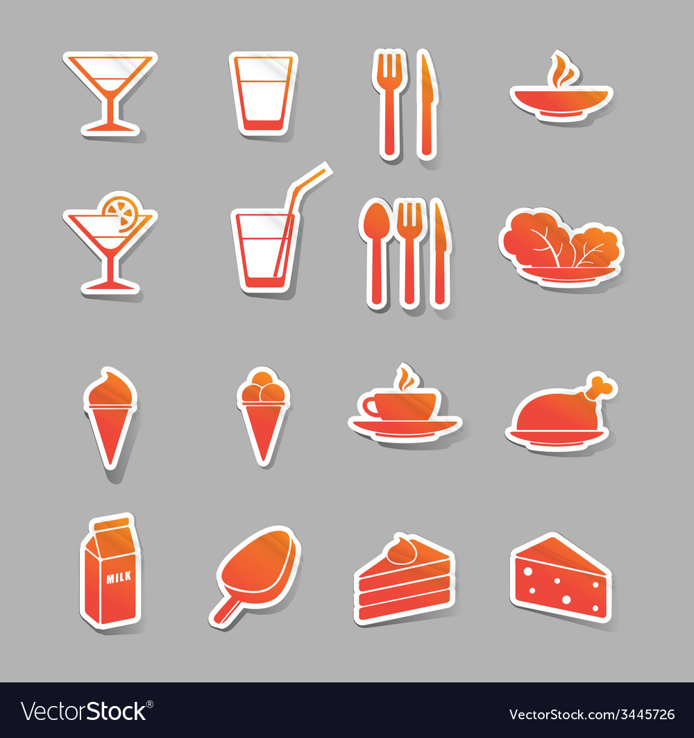 Food and drink icons vector | Price: 1 Credit (USD $1)