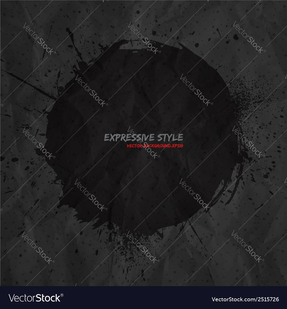 Hand drawn grunge dark background vector   Price: 1 Credit (USD $1)