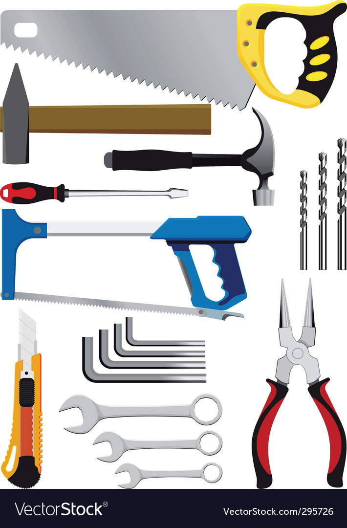Hand tools vector | Price: 3 Credit (USD $3)