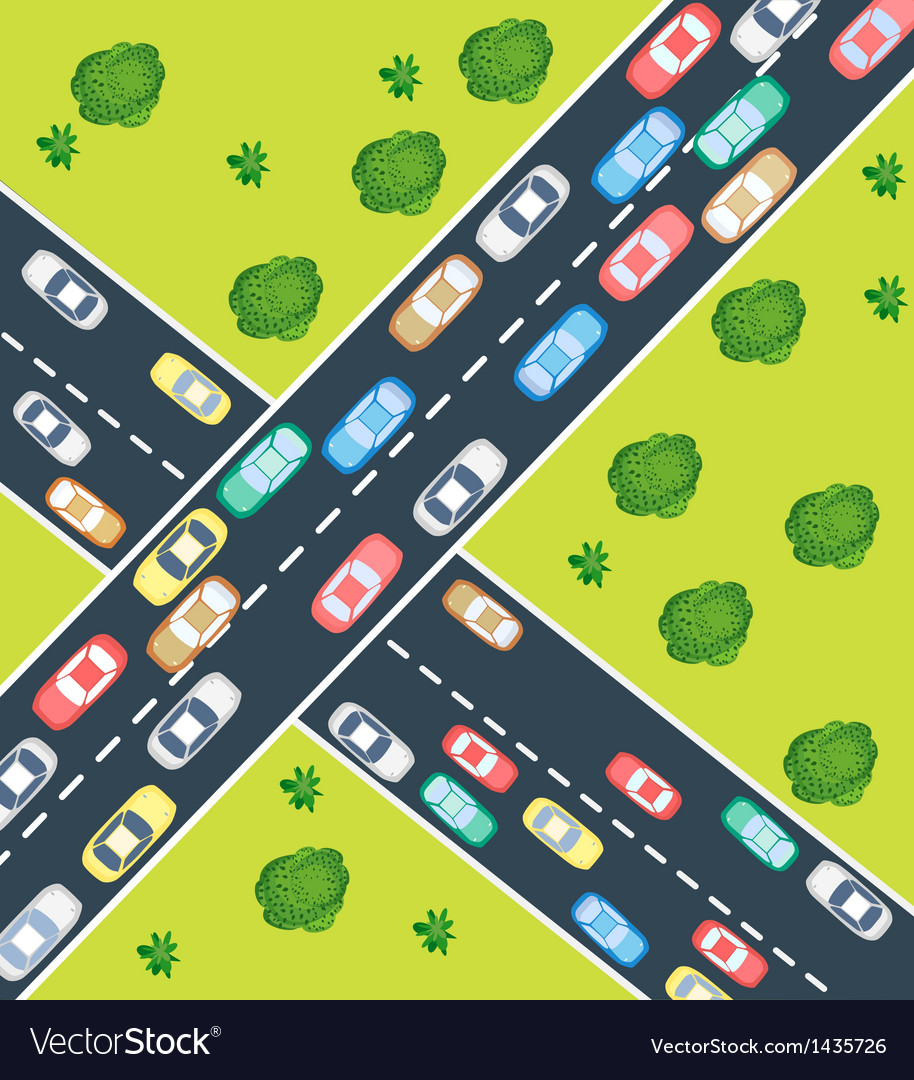 Highway traffic vector | Price: 1 Credit (USD $1)