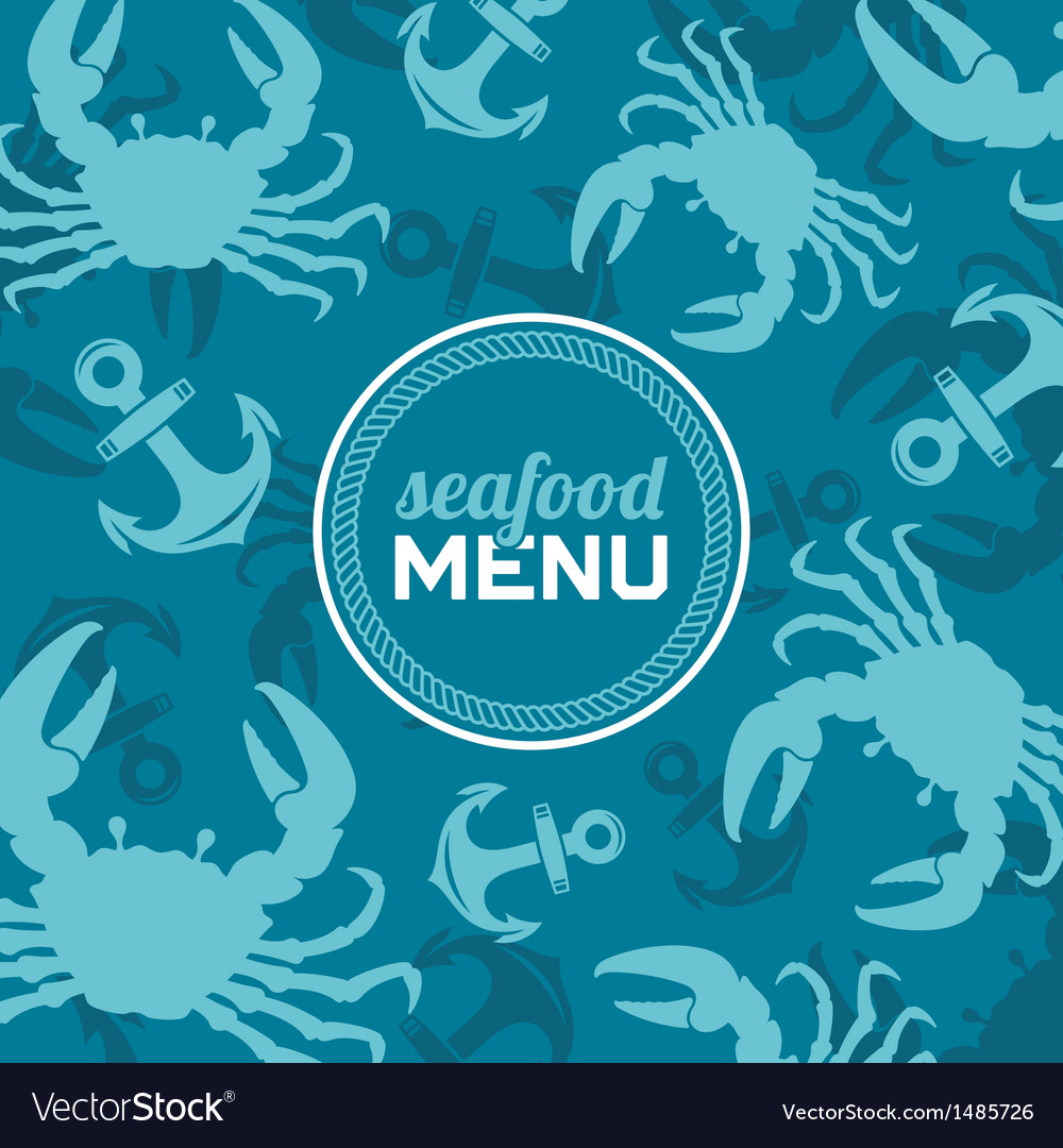 Seafood menu 2 vector | Price: 1 Credit (USD $1)