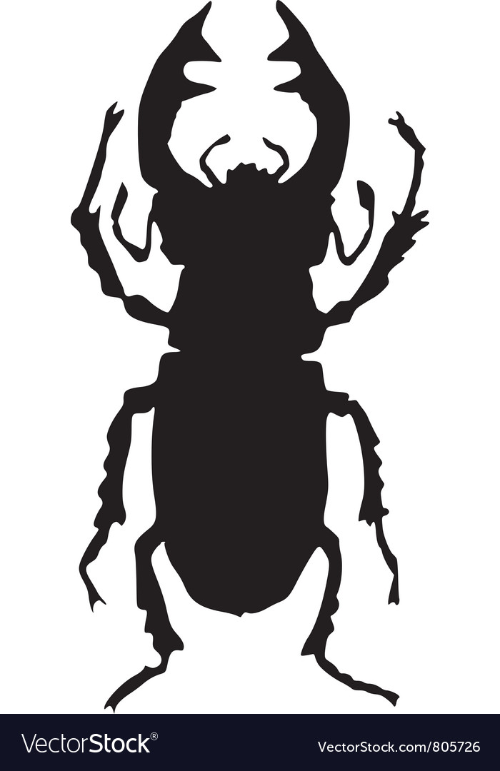 Silhouette of stag-beetle vector | Price: 1 Credit (USD $1)