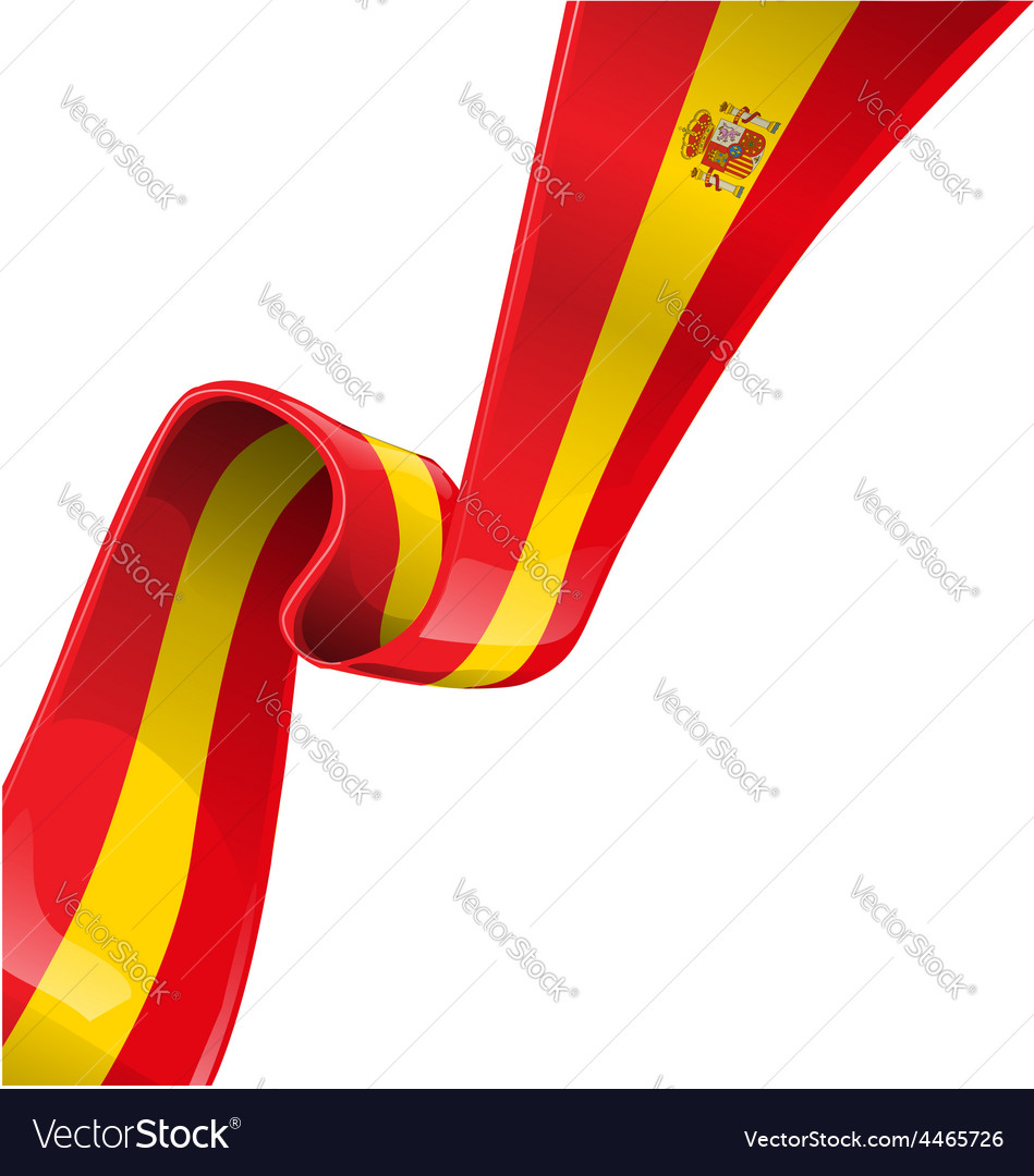 Spain flag on background vector | Price: 1 Credit (USD $1)