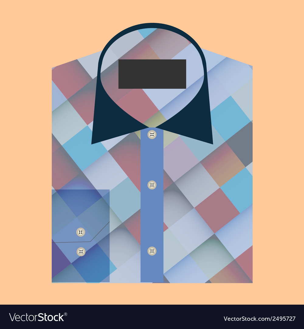 Color folded shirt with badge design concept vector | Price: 1 Credit (USD $1)