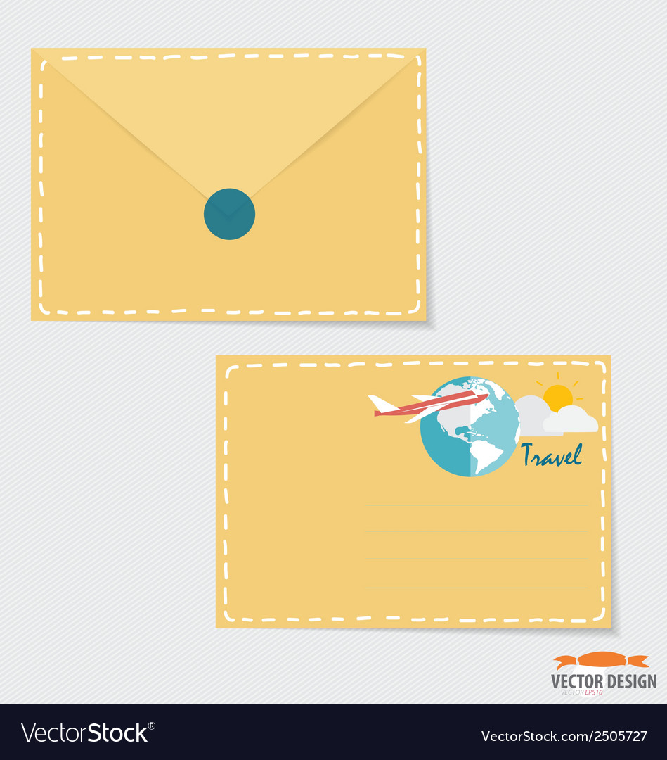 Envelope business working elements for web design vector | Price: 1 Credit (USD $1)
