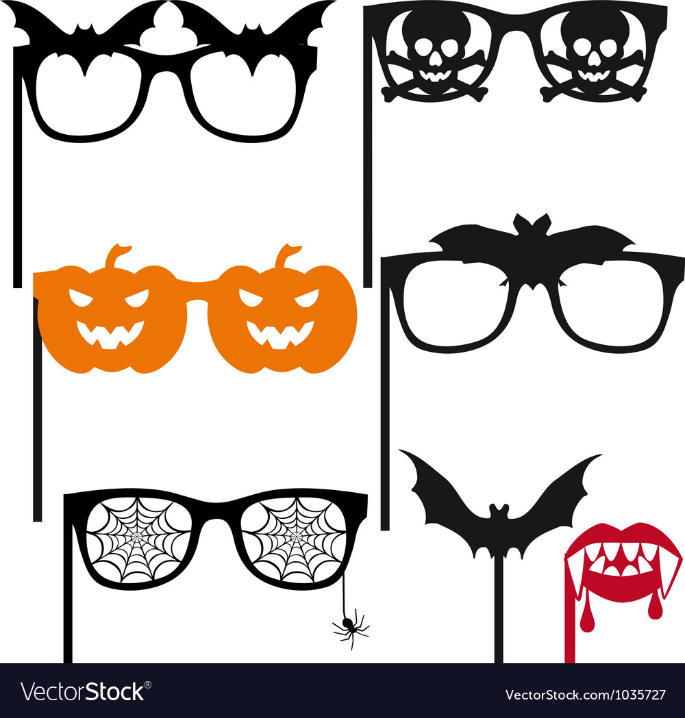 Halloween booth props vector | Price: 1 Credit (USD $1)