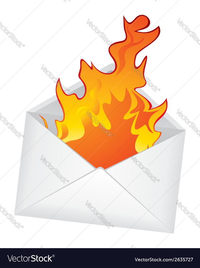 Hot message vector | Price: 1 Credit (USD $1)