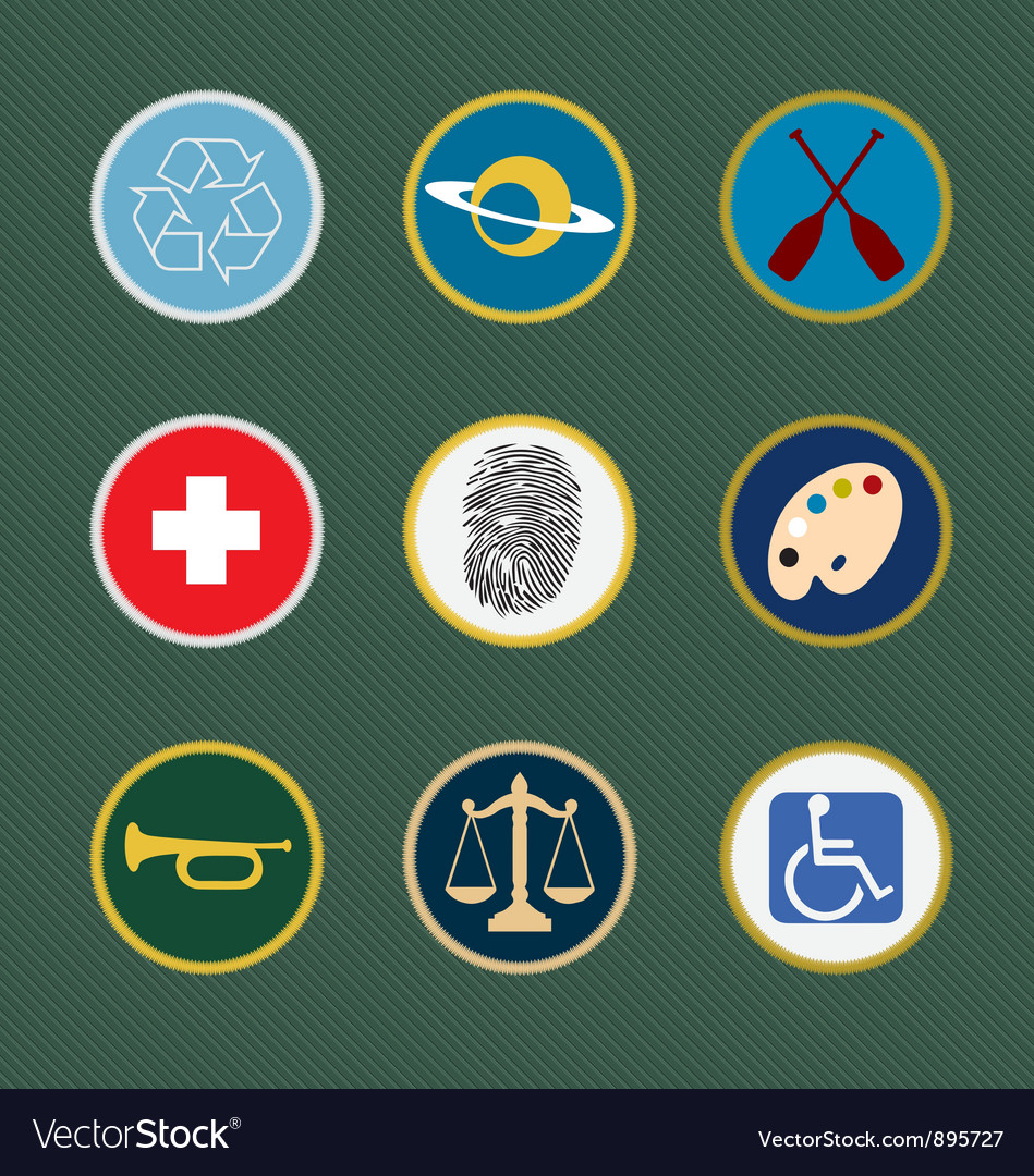 Merit badges vector | Price: 1 Credit (USD $1)