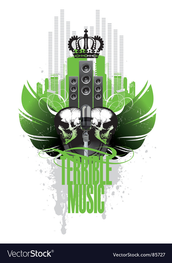 Music wings vector | Price: 1 Credit (USD $1)